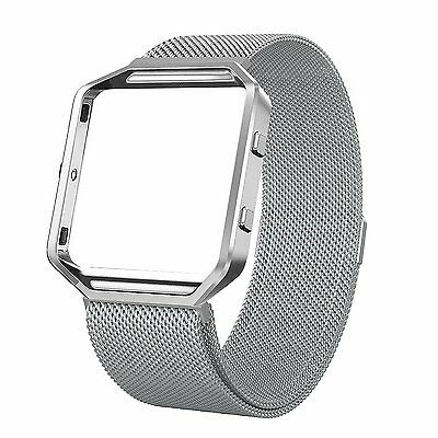 Fitbit Blaze Stainless Steel Milanese Magnetic Replacement Band with Metal Frame