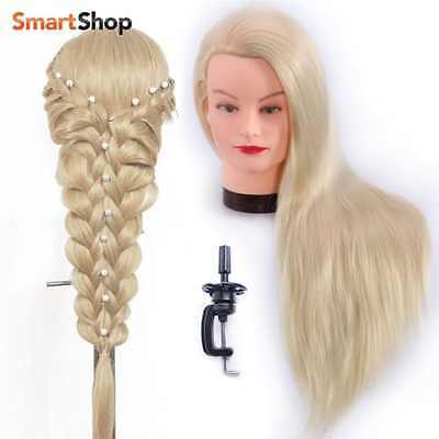 """26-28"""" Hairdresser Training Head Manikin Cosmetology Mannequin Doll Synthetic Fi"""