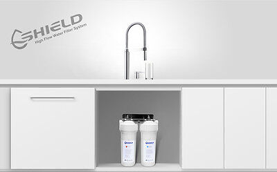 PLATINUM High Flow Twin Undersink Water Filter System For Mixer Tap  0.5 Micron