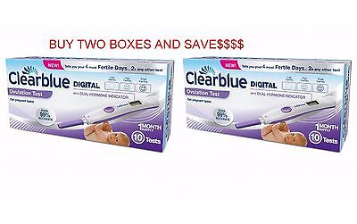 Best Price! Clearblue Digital Ovulation Testing Kit 10 Tests with Dual Indicator
