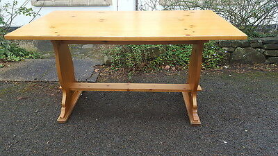 A Vintage Farmhouse/Country Style Solid Pine Refectory Table Upcycle/Shabby Chic