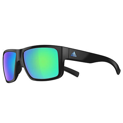 Adidas Eyewear Matic Sunglasses - Black Shiny (Blue Mirror Lenses)