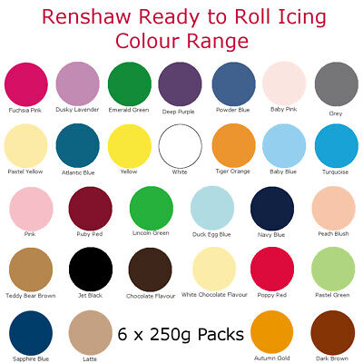1.5Kg Renshaw Ready To Roll Colour Cake Icing Fondant Sugarpaste For Decorating