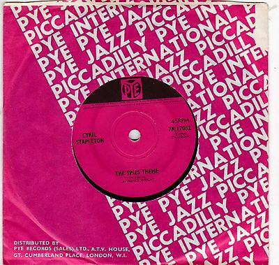 """The Spies Tv Theme /march Of Diddy People  Cyril Stapleton Uk 7"""" Pye Excellent"""
