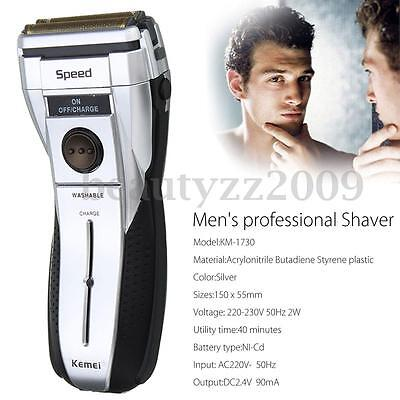 KEMEI Electric Rechargeable Cordless Shaver Waterproof Body Men Shaving Machine