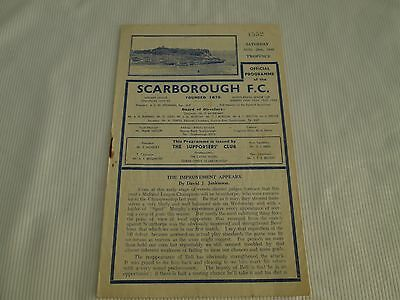 1948-49 MIDLAND LEAGUE RESERVES  SCARBOROUGH v BRADFORD CITY