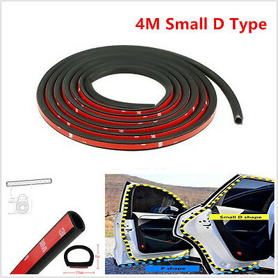 """4M 157"""" Car SUV Small D Type Rubber Edge Seal Hollow Door Weather Strip Sealings"""