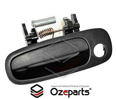 FRONT LH Left Hand OUTER Door Handle (Black) For Toyota Corolla AE112 1998~2001