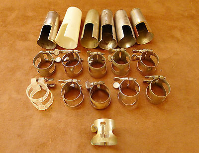Vintage Bb Clarinet Cap and Ligature Lot Collection