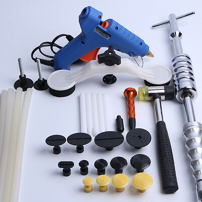 PDR Paintless Dent Repair Puller Slide Hammer Glue Gun Sticks Tools Removal Kits