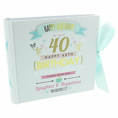Signography Ladies 40th Birthday Photo Album - 40th Birthday Gift Idea