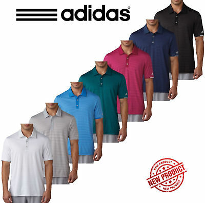 Adidas 2017 Golf Climachill™ Tonal Stripe Polo Mens Performance Golf Polo Shirt
