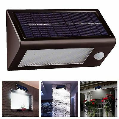 NEW 400 Lumens 32 Led Solar Powered Rechargeable Motion Sensor Security Light
