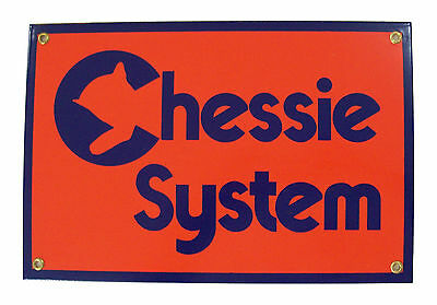 Chessie System Railroad Porcelain Sign #57-1130