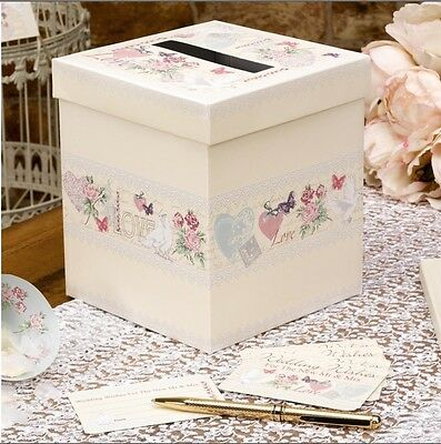 With Love Vintage Design Wedding Wishes Messages Guest Post Box