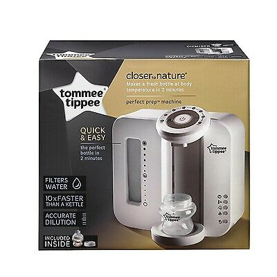 Tommee Tippee Closer to Nature White Perfect Prep Machine, Baby Feeding Bottle