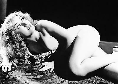1a Fay Wray vintage naked not high quality b/w A4 12x8 inch approx photo reprint