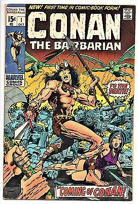MARVEL COMIC  Conan the Barbarian  (1970 - 1993)   # 1  Good      First Issue