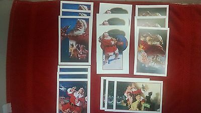Coca Cola Coke Postcards-Santa Claus-Christmas 1991-Happy Holidays-New Old Stoc!