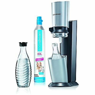 SodaStream Water Carbonator Crystal with 1x CO2Cylinder 60L and 2x 0.6L Glass
