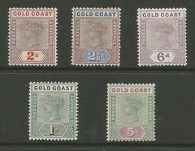 GOLD COAST BETWEEN SG27b&33 QV 1898-1902 TO 5/- MOUNTED MINT CAT £197