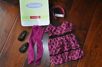 American Girl Bitty Baby Retired Sweet Snowflake Dress Outfit