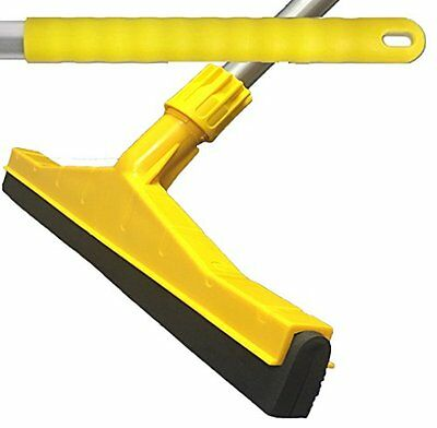 Yellow Professional Hard Floor Cleaning Squeegee & Strong Alloy Handle For Wood