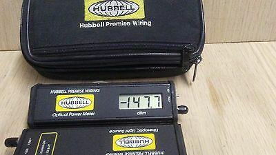 hubbell optical power meter ofpm813 and light source