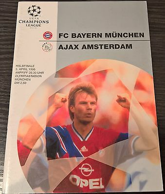 Bayern Munchen Home and Away EC programmes (CL, UEFA Cup, ECWC)