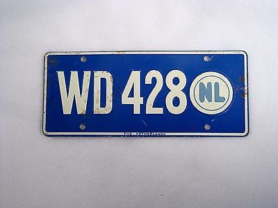 NETHERLANDS Wheaties Cereal License Plate #WD 428