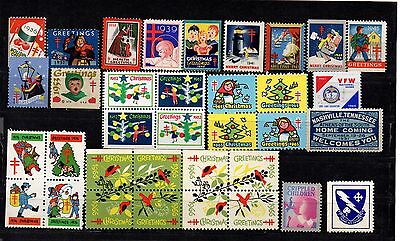 USA 58 Christmas stamps 1936-1989 (National tuberculosis associations) Scott cat