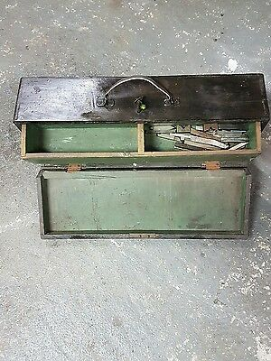 old wooden carpenters tool box