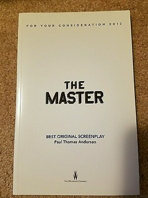 Paul Thomas Anderson The Master Screenplay Book Philip Seymour Hoffman New Fyc