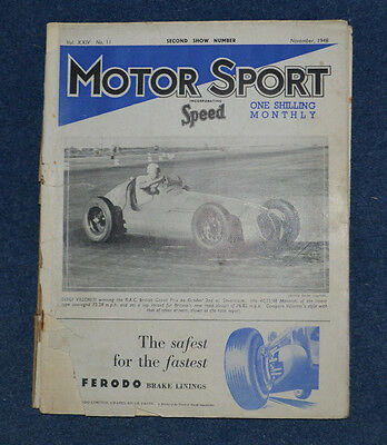 Motor Sport November 1948 The cars @ Earls Court Show & reflections, Silverstone