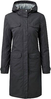 CRAGHOPPERS Woman's EMLEY waterproof jacket - SIZE 12 - Charcoal - NEW  RRP £100