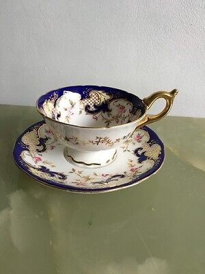 Coalport Batwing Cup And Saucer