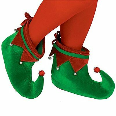 Christmas Adult Elf Shoes with Bells - 393235