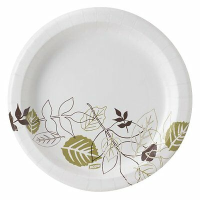 Pathways Mediumweight Paper Plates 8 1/2'' Green/burgundy Dixie Soak Proof Grn