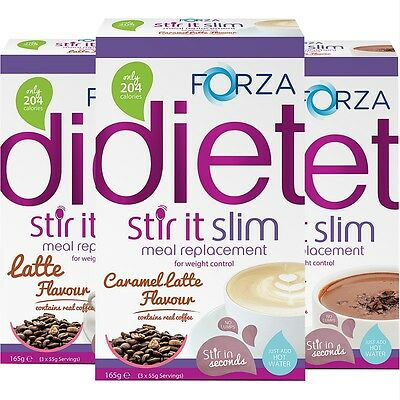FORZA Stir It Slim Hot Meal Replacement Drink For Weight Loss 3x55g