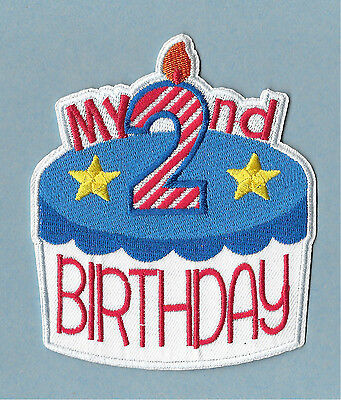 Birthday - My 2nd Birthday - Patriotic - Embroidered Iron On Applique Patch