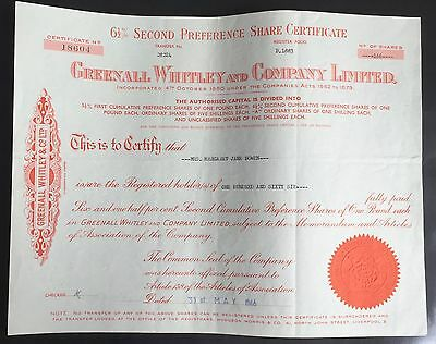 Greenall Whitley and Company Limited