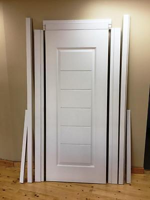 2040x720 Solid Core Door, Finished Painted Comes with Jambs Set Ready to Install