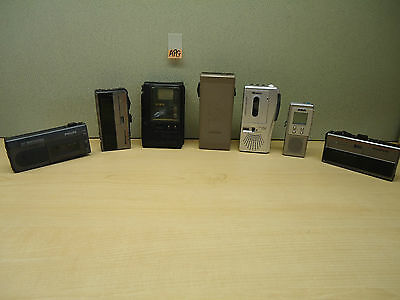 Mixed Lot Of 7 Vintage Mini Tape Recorders Apg
