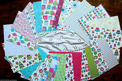 Jolly Pack A - 23 -6x6 Papers & 6 Varied Extra Paper Embellishment ALL Dbl Sided