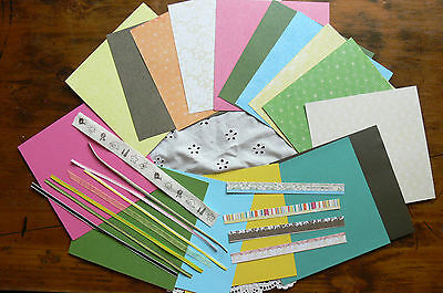 Card Kits Contrast 10 D/S Pattern & 6 Cstock 6x6 - 4 Strips & 8 Ribbons WEBSTER