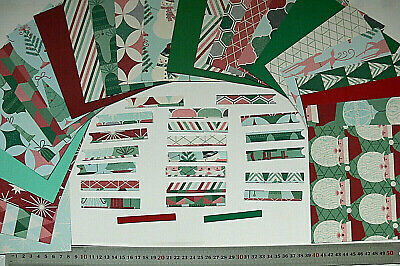 WINTER FUN 20 Sheets 6x6 Papers + 19Varied Extra Paper Embellishment SingleSided