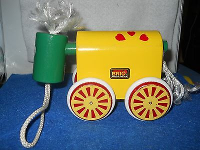 Brio Toy Horse Wooden Pull On Wheels Sweeden Made