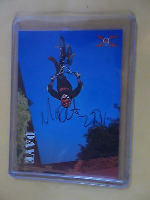 1994 GENERATION X DAVE MIRRA signed CARD hand autographed and dated 2001
