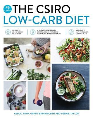 The CSIRO Low-Carb Diet by Grant Brinkworth Paperback Book Free Shipping!