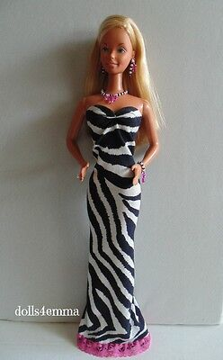 """SUPER SIZE 18"""" BARBIE DOLL CLOTHES Handmade GOWN & JEWELRY fashion NO DOLL"""